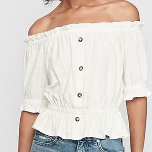 Express: Textured off the shoulder top